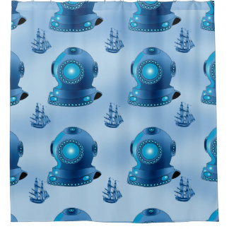 DIVER SEA  Shower Curtain