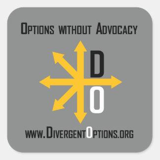Divergent Options Sticker