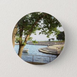 Diversey Harbor Chicago Lakefront 1970's 2 Inch Round Button