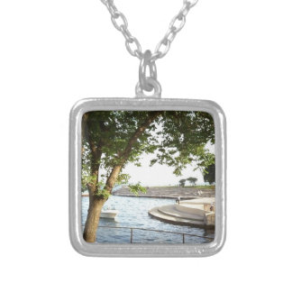 Diversey Harbor Chicago Lakefront 1970's Silver Plated Necklace