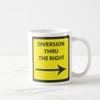 DIVERSION SIGNS CLASSIC WHITE COFFEE MUG