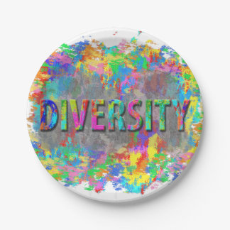 Diversity. 7 Inch Paper Plate