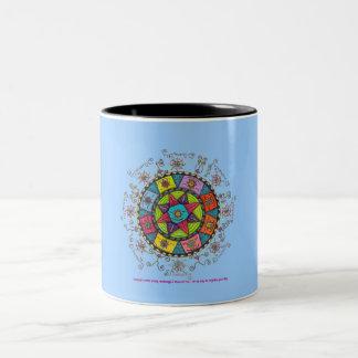 Diversity - Black Two Tone Mug (light blue)