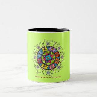 Diversity - Black Two Tone Mug (light green)
