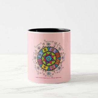 Diversity - Black Two Tone Mug (pink)