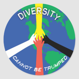 Diversity Cannot Be Trumped - Small Sticker