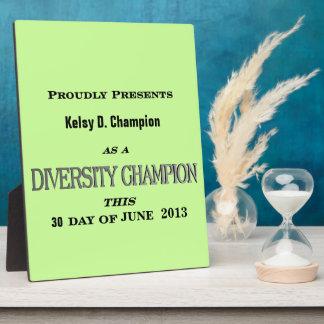 Diversity Champion Plaque