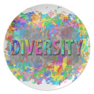 Diversity. Dinner Plates