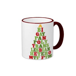 Diversity Holiday Tree Ringer Coffee Mug