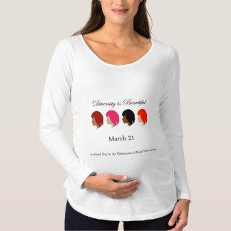 Diversity is beautiful- March 21 Maternity T-Shirt