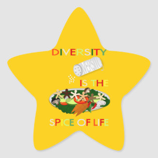 Diversity Is the Spice of Life Star Star Sticker