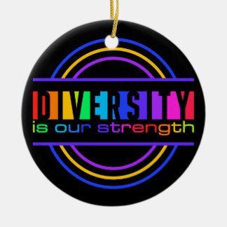 Diversity ornament, customize ceramic ornament
