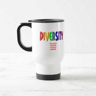 Diversity Rainbow II White Travel Mug