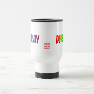 Diversity Rainbow White Travel Mug