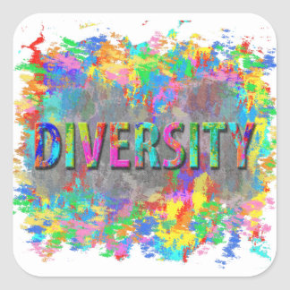 Diversity. Square Sticker