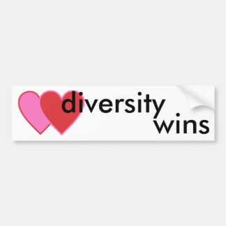diversity wins bumper sticker