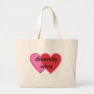 diversity wins large tote bag