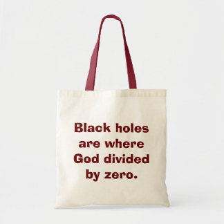 Divide by Zero Math Tote Bag
