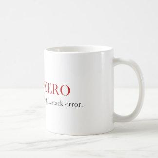 Divide By Zero mug - Stack Error