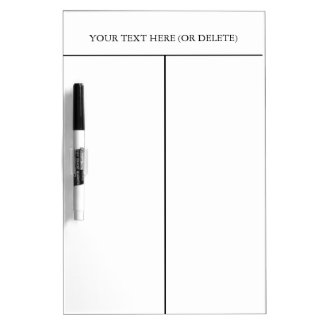 Divided Dry-erase Board-Customize Text. Dry Erase Boards