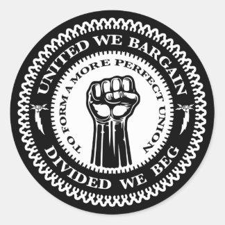 Divided We Beg Round Sticker