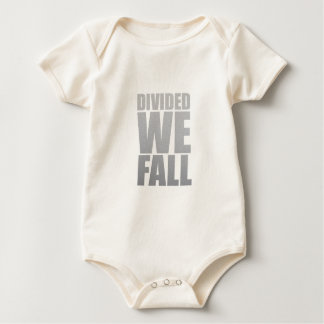 DIVIDED WE FALL BABY BODYSUIT
