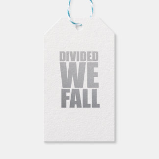 DIVIDED WE FALL PACK OF GIFT TAGS