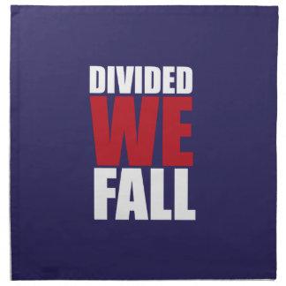 Divided We Fall Patriotism Quotes Napkin
