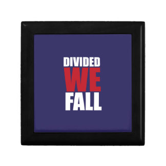 Divided We Fall Patriotism Quotes Trinket Box