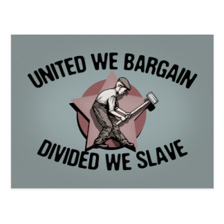 Divided We Slave Postcard