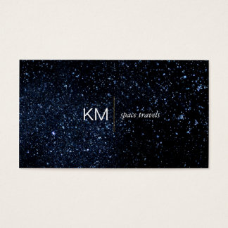 Divider Line with Black Tab / Night Sky Business Card