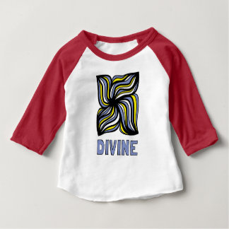 """Divine"" Baby 3/4 Raglan T-Shirt"