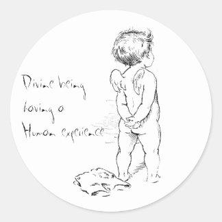 Divine being ....Human cherub sticker