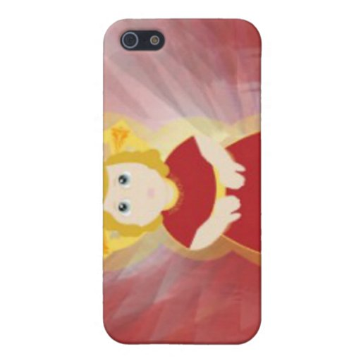 Divine Child Dazzling Love Red Angel's Wings Cases For iPhone 5