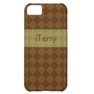 Divine Diamond Patterns_Brown & Olive_personalized iPhone 5C Covers