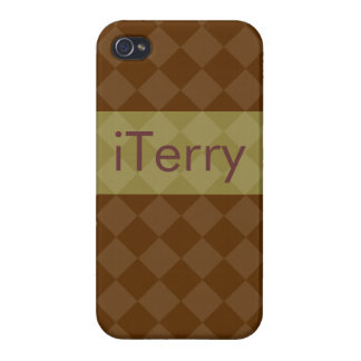 Divine Diamond Patterns_Brown Olive_personalized iPhone 4/4S Case
