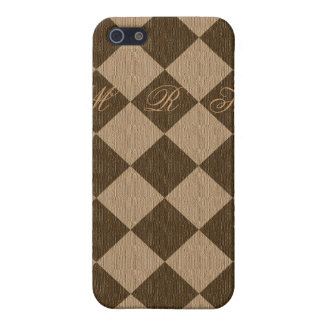Divine Diamond Patterns_Chocolate Mocha_personaliz Case For iPhone 5