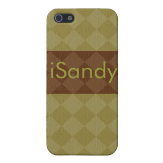 Divine Diamond Patterns_Olive Brown_personalized iPhone 5 Case