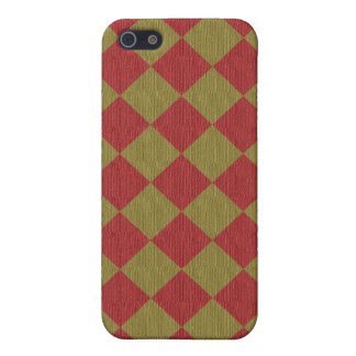 Divine Diamond Patterns_Red Green texture iPhone 5/5S Cases