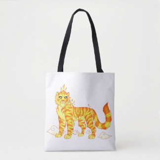 Divine Fire Tiger All-Over-Print Tote Bag