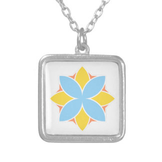Divine Flower Silver Plated Necklace