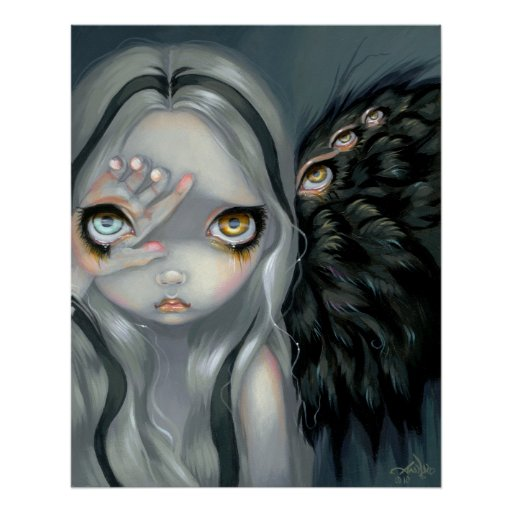 Divine Hand ART PRINT gothic angel surreal