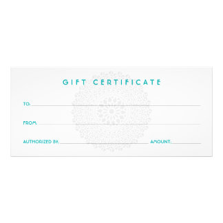 Divine Impression Blue Gift Certificate
