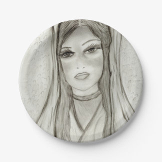 Divine Mary 7 Inch Paper Plate