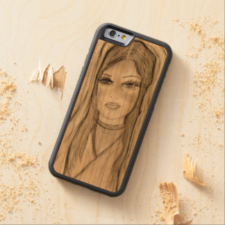 Divine Mary Carved Cherry iPhone 6 Bumper Case