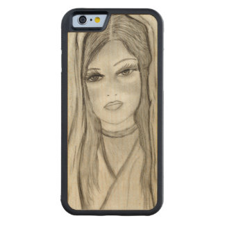 Divine Mary Carved Maple iPhone 6 Bumper Case