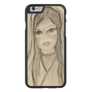 Divine Mary Carved Maple iPhone 6 Case