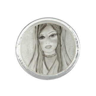 Divine Mary Photo Rings