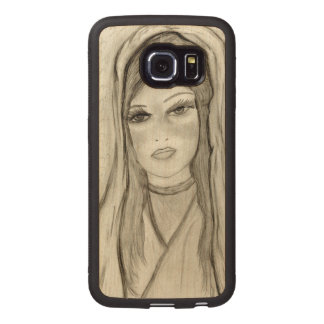 Divine Mary Wood Phone Case