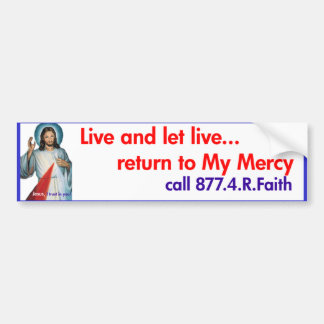 Divine Mercy bumper sticker